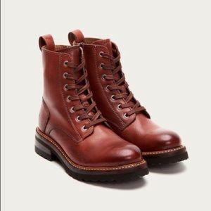 FRYE Ella Moto Lace Boots